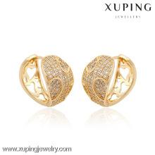 90389- Boucle d'oreille de vente chaude de mode de bijoux de Xuping avec l'or 18K plaqué