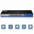 24 port gigabit ethernet 2 layer rack commercial switch for ip camera