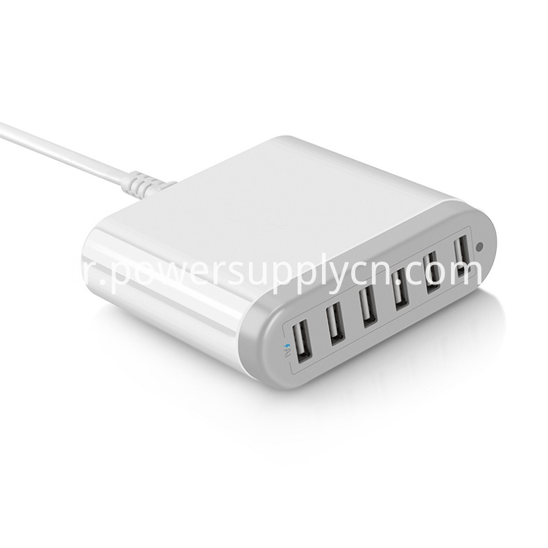 6 Usb Charger With Smart Ic 5v6a