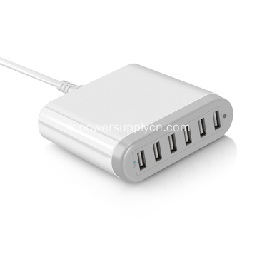 Chargeur de bureau 6 USB 5V10A Smart IC