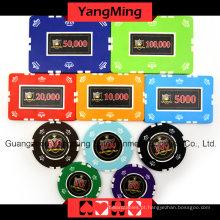 Conjunto de fichas de poker Clay Clay (760PCS) YM-SGHG002