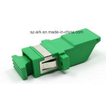 Sc / APC Einteiliger optischer Adapter