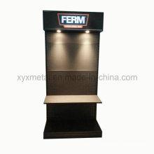 Exposição e publicidade de equipamentos metálicos com ferramentas de iluminação LED Display Stand
