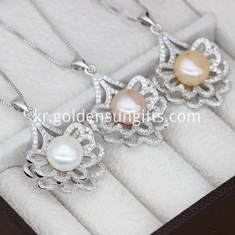 Silver Jewelry Pearl Pendant Necklace