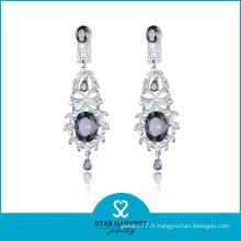 Boucle d'oreille à bijoux en argent et bijoux délicats Costume Costume (SH-0139E)