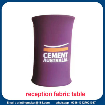 Tension Fabric Promotional Display Counter dengan Printing