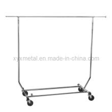 Habillage roulant pliable / pliable / Vêtement télescopique Vendeur Rack de vêtements