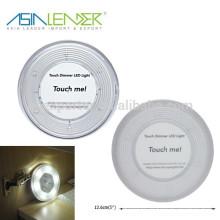 Mini empurrar luz de toque inteligente cor com mini lúmens levou luz