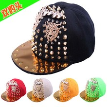 Custom new handmade skull hiphop punk cap rap dancer snapback hat