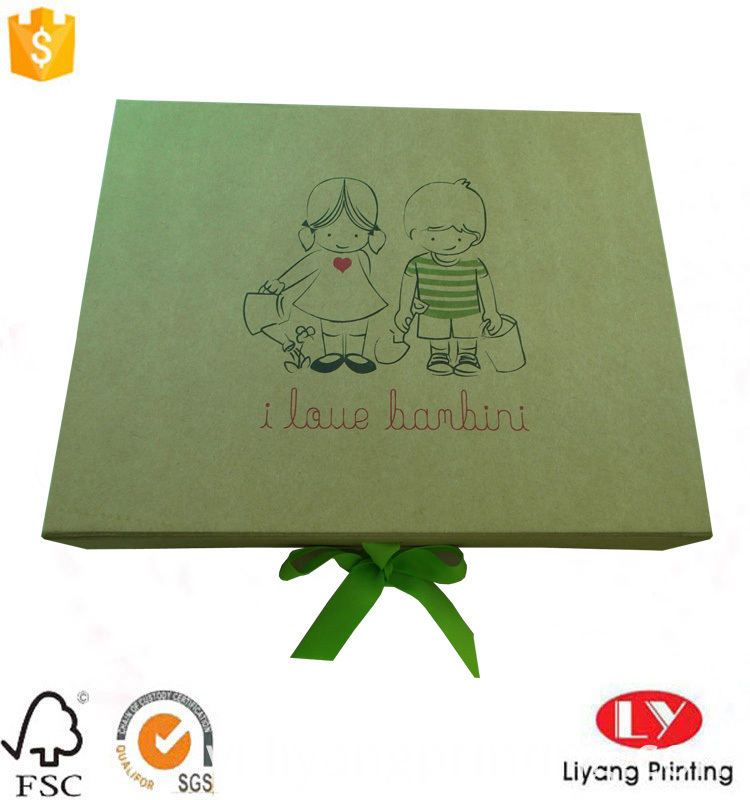 flat foldable gift box