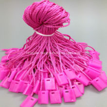Pink string tag fastener for bag shoes hats