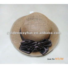 Fashion style Khaki Women's straw hat with flower