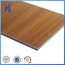 Materiales decorativos de recubrimiento de pared Panel de aluminio compuesto de madera
