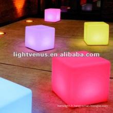 Club de nuit de changement de couleur de 40cm RVB, partie Cube LED Table