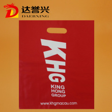 Red Print Logo Die Cut Plastic Bag
