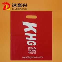 Red Print Logo Die Cut Plastic Bag