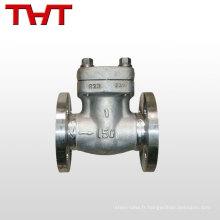 Clapet anti-retour d'oscillation d'acier inoxydable de gaufrette de haute pression d'utilisation industrielle