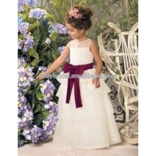 Lovery princess children frocks designs dresses Nice Belt, Exquisite Workmapship, Flower Girl Dresses guangdong factory sale