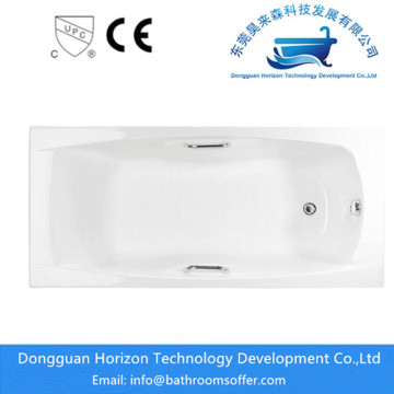 Rectangular acrylic tub square bathtub sizes