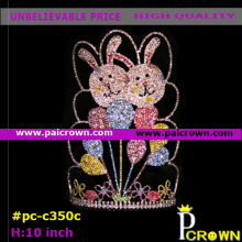 Ab colors rabbits easter pageants tiara crown