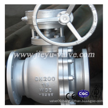 DIN Pn16 Wcb Worm Gear Floating Ball Valves