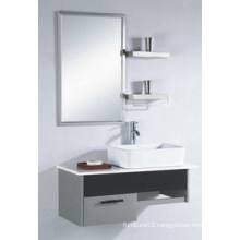 Hangzhou Popular Mirrored Cabinet Stainless Steel Ceramic Basin Bathroom Vanity