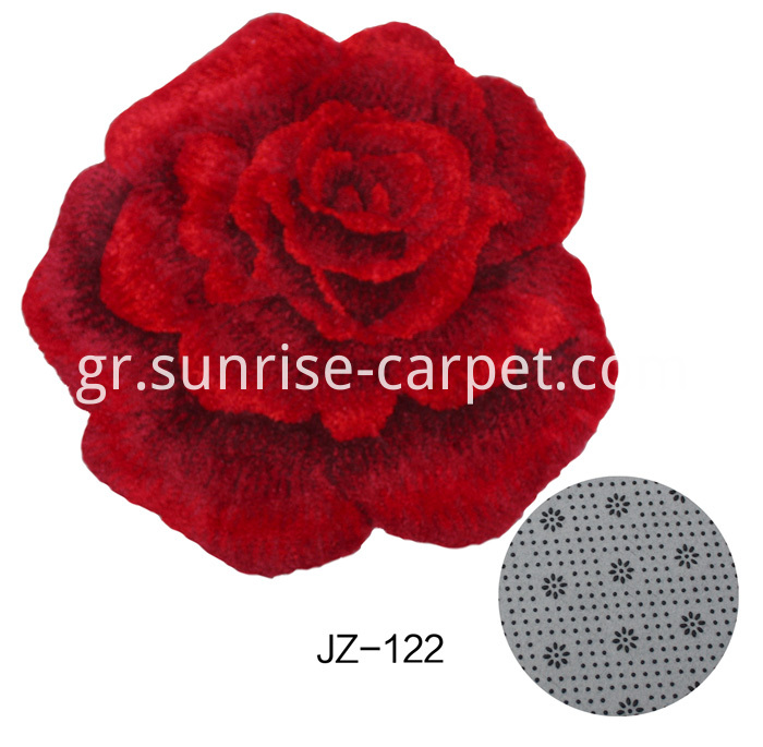 Microfiber Shaggy Bathmat with Flower shape