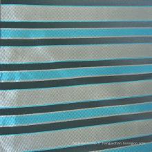 Tissu Jacquard Strip Design Cushion en couleur bleue