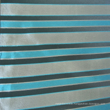 Jacquard Strip Design Cushion Fabric in Blue Color