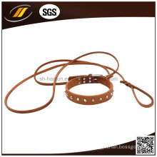 New Style Adjustable European Leather Dog Collar