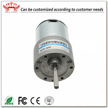 Micro Dc Brushed Motor With 37mm Gearbox