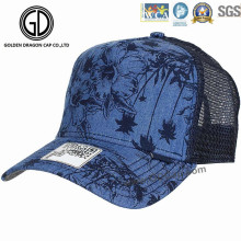 2016 nuevo sombrero de béisbol del acoplamiento de la impresión del dril de algodón de la manera / casquillo del camionero