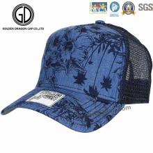 2016 New Fashion Denim Printing Mesh Chapéu de baseball / Trucker Cap