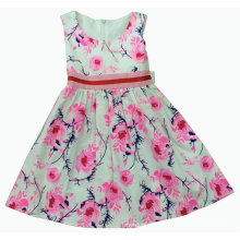 Flower Dress in Summer for Hot Sale Children Clothes (SQD-121)