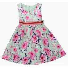 Vestido de flor no verão para roupas de crianças venda quente (sqd-121)