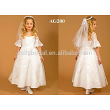 7-10years Age Long Style of Length Little Princess flower girl dresses for wedding