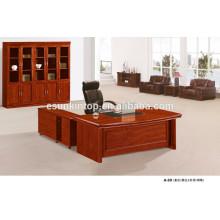 Mesa de escritório mais recente Mesa de escritório de folheado de madeira