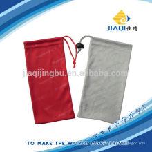 Impressão personalizada microfibra bolsa de vidro com cordão
