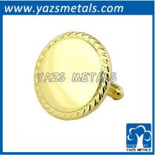 Personalize o botão de punho de ouro brilhante com design de pessoa