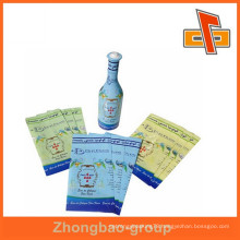 Soft material plastic PET heat shrink custom printed label for bottle packing