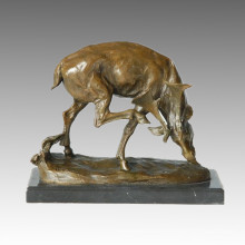 Animal Deer Statue Caribou Bronze Sculpture, Milo Tpal-131