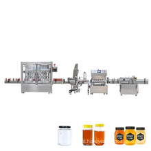 Glass bottle soy sauce filling capping and labeling machine with condiment device for sale