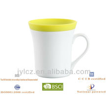 white blank mugs attacked white porcelain with silicone cover