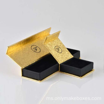 Kertas Khas Logo Khas Magnetic Ring Jewelry Box