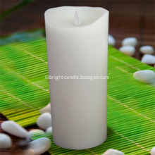 3-PC white LED pillar candles with remote controller