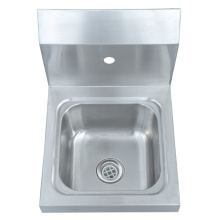 Lavabo de pared de acero inoxidable comercial