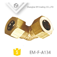EM-F-A134 Brass quick connector 90 degree elbow pipe fitting