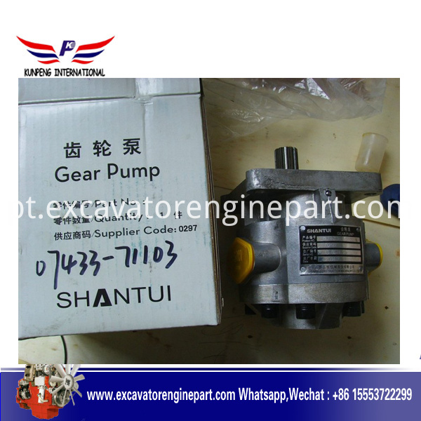 Sd32 Shantui Bulldozer Steering Pump 07440 72202 Hydraulic Gear Pump 07433 71103