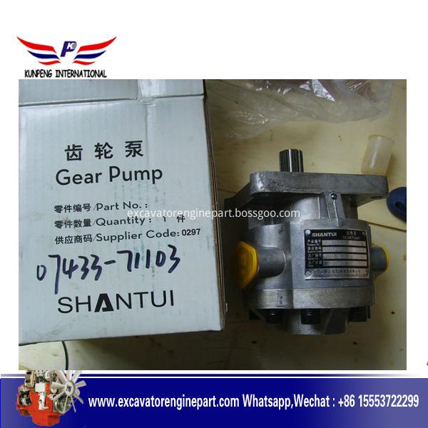 Sd32 Shantui Bulldozer Steering Pump 07440 72202 Hydraulic Gear Pump 07433 71103