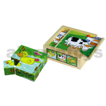 Wooden 6-Side Cube Puzzle (80147)